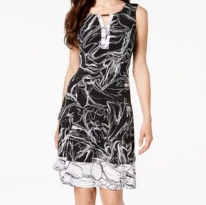 JM  collection petite sleeve a-line dress